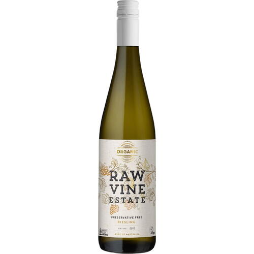Raw Vine Estate Preservative Free Riesling 2018
